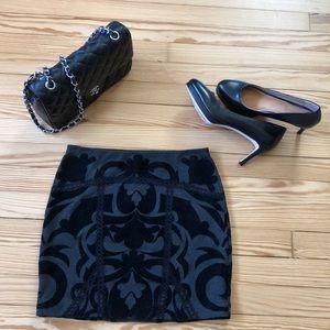 Free People Baroque velvet stretch skirt XS